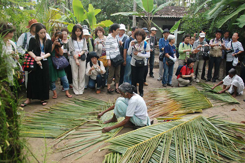 Weaving Coconut Leaves